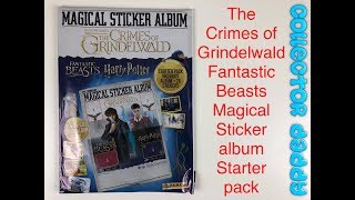 Panini FANTASTIC BEASTS CRIMES of GRINDELWALD Harry Potter Album 6 Stickers