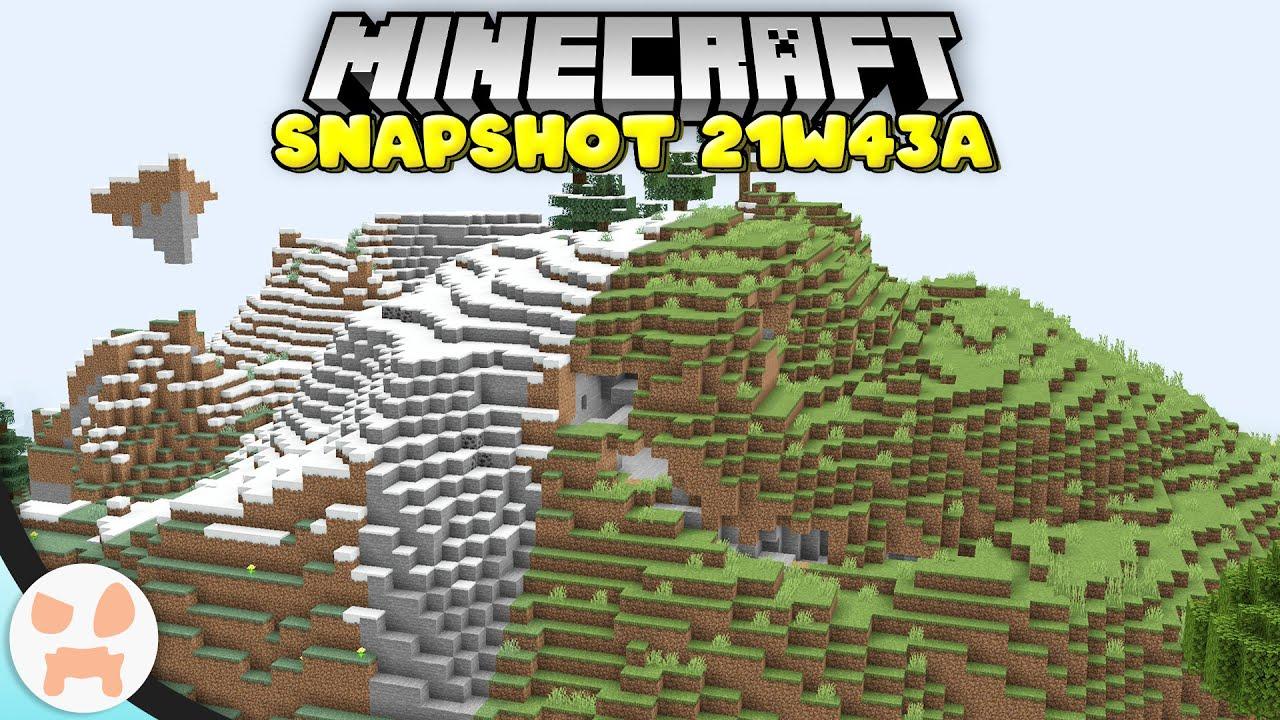 NEW WORLD BLENDING DEEPER CHUNKS  MORE  Minecraft 118 Snapshot 21w43a