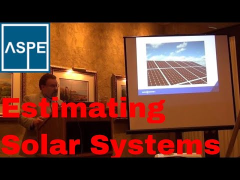 Estimating Solar Commercial Solar Systems, ASPE Chapter 32 K