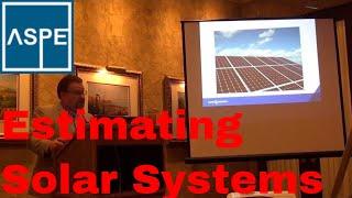 Estimating Solar Commercial Solar Systems, ASPE Chapter 32 Kansas City Estimators
