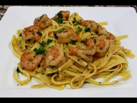 Download Fettucine with Shrimp in a Garlic-Lemon Sauce Recipe Images