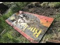 Digging up some buried porcelain signs and exploring abandoned buildings!