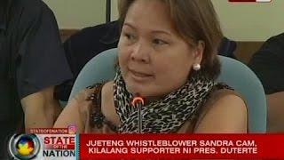 SONA: Jueteng whistleblower Sandra Cam, nasangkot sa isang kontrobersiya sa NAIA