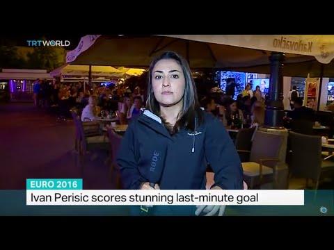 Fans celebrate Croatia win in Zagreb, Soraya Lennie reports