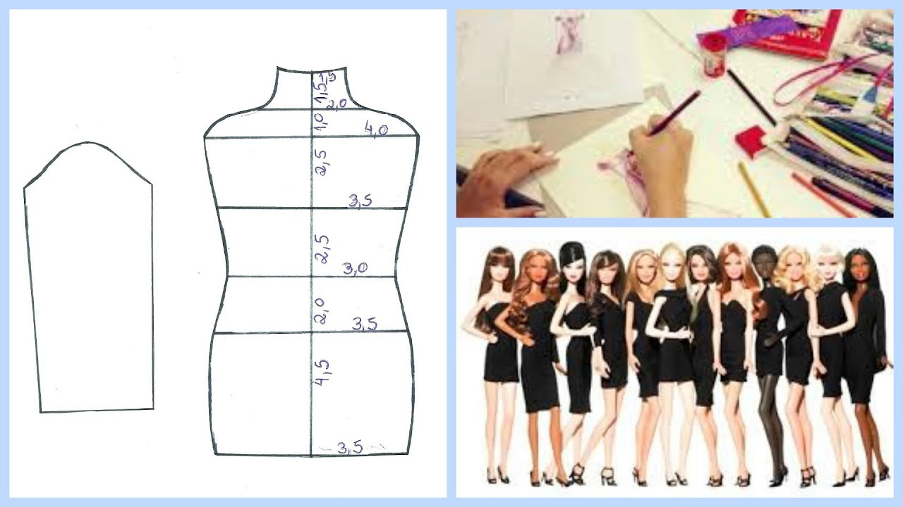 Molde Base p/ Corpo da Barbie DIY (costura) - YouTube