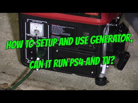 $130 GENERATOR 1000 WATTS SETUP - WILL IT RUN TV & PS4