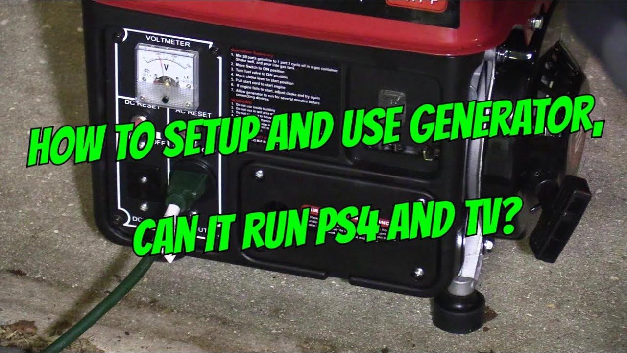 130 Generator 1000 Watts Setup Will It Run Tv Ps4 Youtube