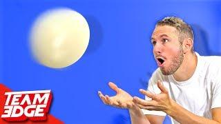 ostrich egg toss challenge