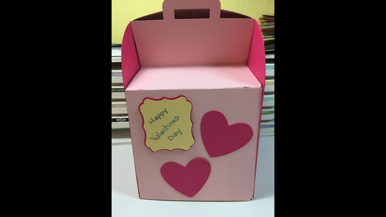 cricut explore make it now valentine box youtube