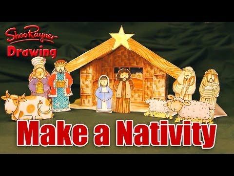 Easy To Make Paper Nativity Scene Doovi