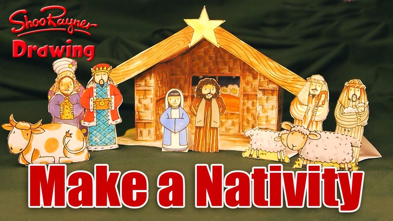 Make your own christmas nativity scene youtube make your own christmas nativity scene solutioingenieria