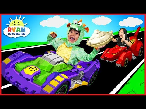 Thumbnail: Ryan BECOMES A DRAGON with OSMO Hot Wheel™ MindRacers! Family Fun Loser gets Pie in the face!