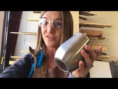 """""""Woodmaker's Widow"""" Wine Cup"""