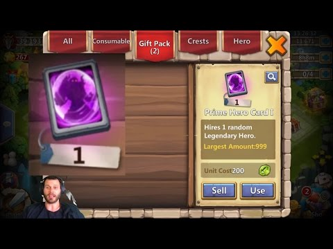 One Month Old Account With Mino Opening Prime Hero Card Castle Clash