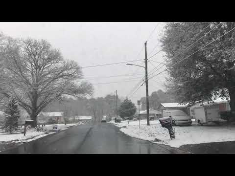 Snowfall in Dalton GA 12/08/17