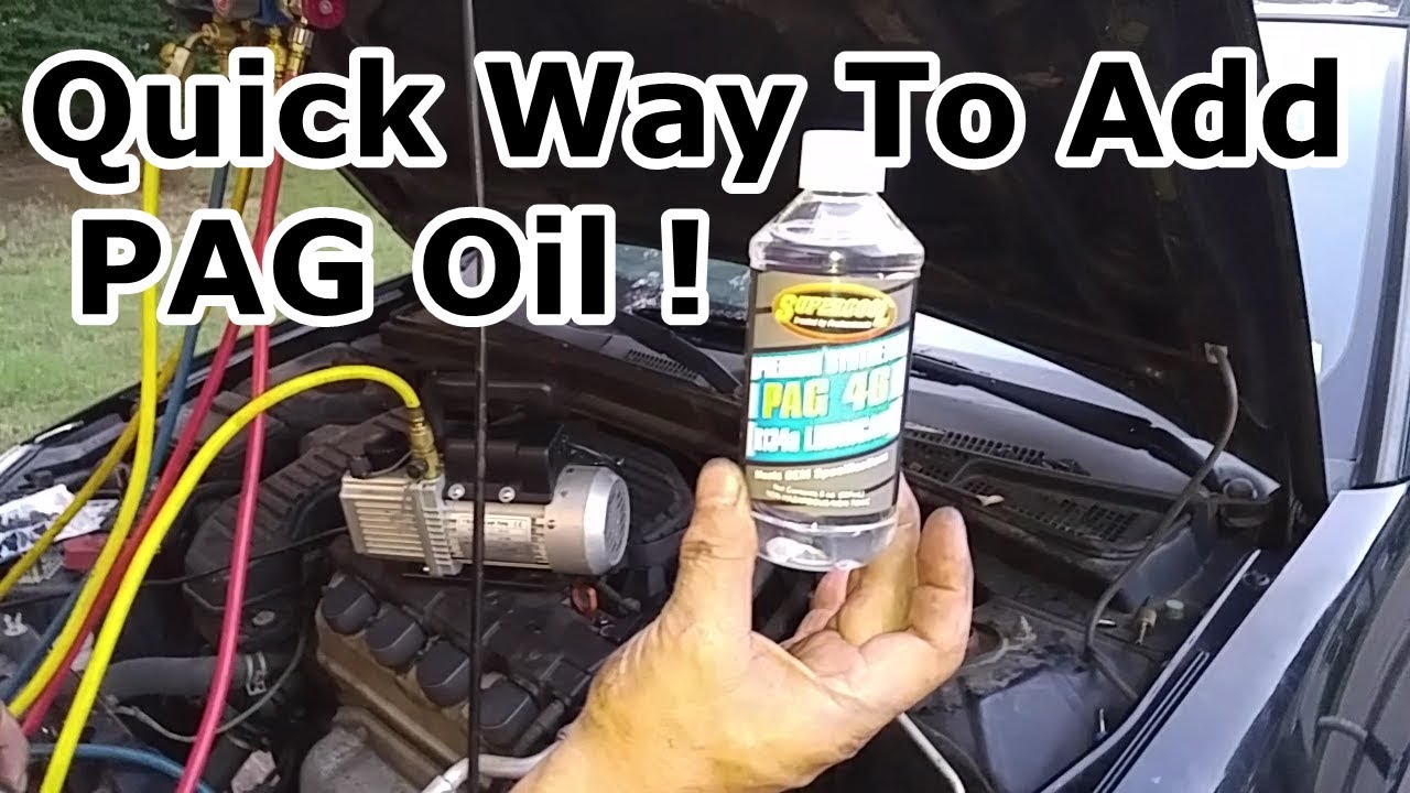 How To Add PAG Oil Into An AC System