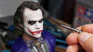 Sculpting Realistic Joker Sculpture Timelapse - The Dark Knight
