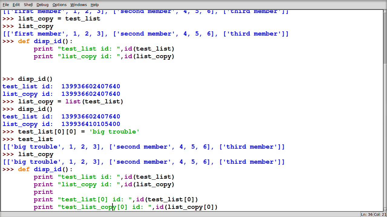 Python: How to copy lists of list or lists of objects ...
