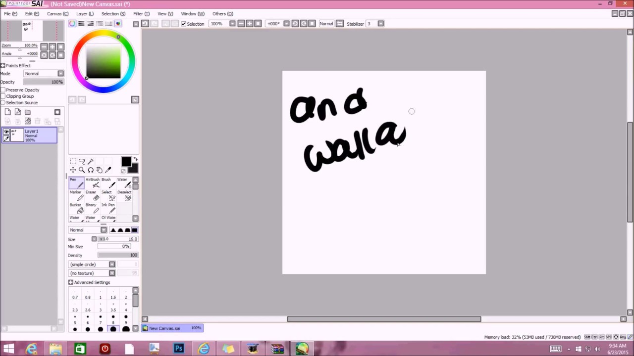 Free paint tool sai full version youtube for Paint tool sai free full version