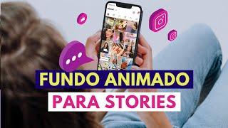 FUNDO ANIMADO PARA STORIES DO INSTAGRAM | Faça posts mais bonitos com essa dica 💜 #shorts