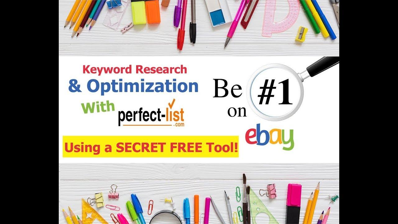eBay SEO Optimization – FREE eBay Keyword Research Tool – eBay Tips &  Tricks and Hacks 2019