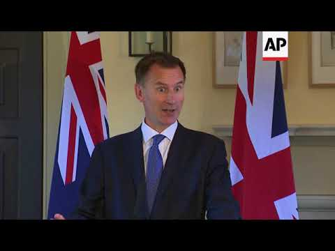 UK and Australian foreign and defence ministers hold briefing