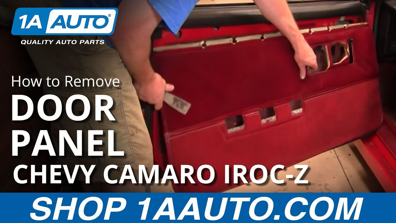 small resolution of how to remove door panel 82 92 chevy camaro iroc z