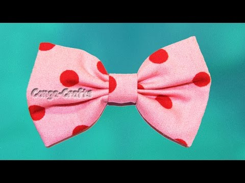 Schnelle Schleife aus Stoff / quick bow of fabric - YouTube