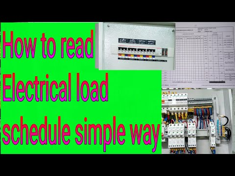 How to read electrical load schedule in simple way  new