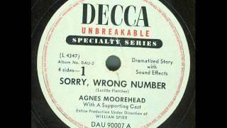 "CBS Radio Drama - Suspense! - ""Sorry, Wrong Number"" (original 12"" 78 rpm"