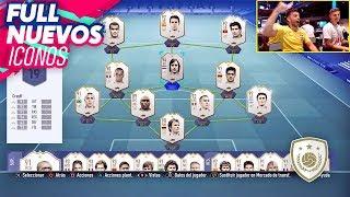 TENGO TODOS LOS ICONOS DE FIFA 19 !!