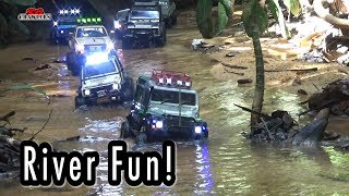 River crossing RC Scale Trucks Offroad Adventures RC4WD
