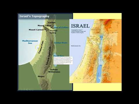 Topography Of The Holy Land
