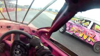 drivers eye view caravan race at lochgelly raceway