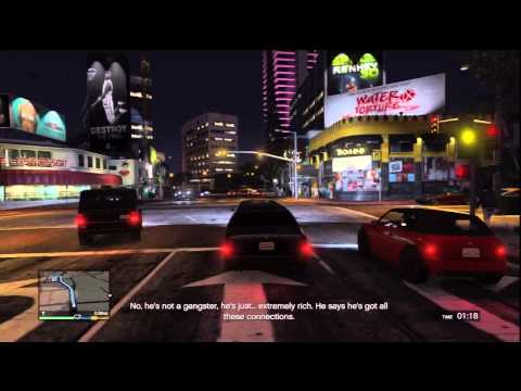 Grand Theft Auto V Gameplay: Michael Fights Off Devin & Merryweather At Home