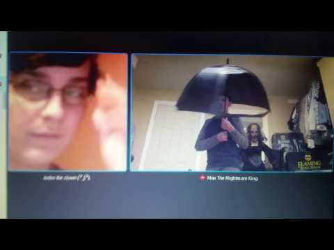 Random Skype with Halloween crazy  and max the nightmare king