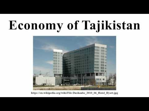 Economy of Tajikistan