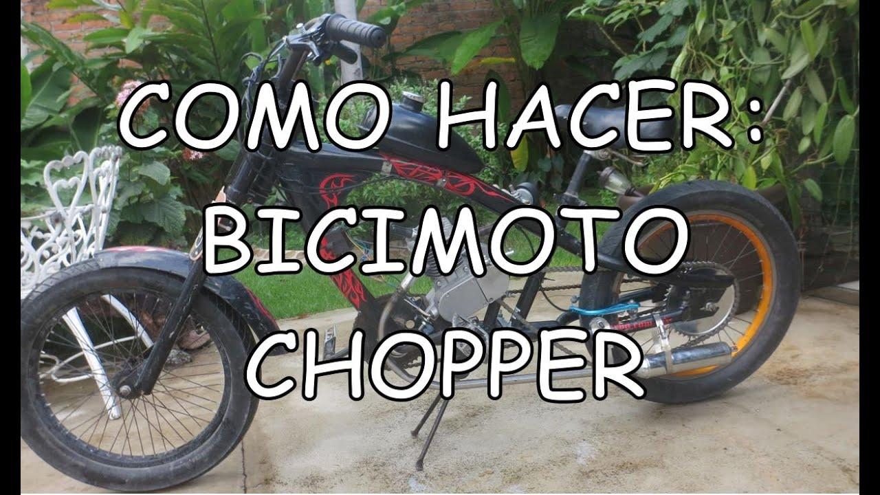 Tutorial - Como hacer una Bicimoto Chopper - YouTube