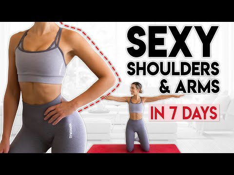 SEXY SHOULDERS and ARMS in 7 Days   10 minute Home Workout