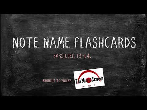 Bass Clef Note Name Flashcards