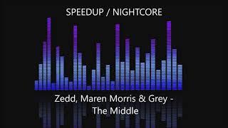 Zedd, Maren Morris & Grey - The Middle [SPEEDUP / NIGHTCORE]