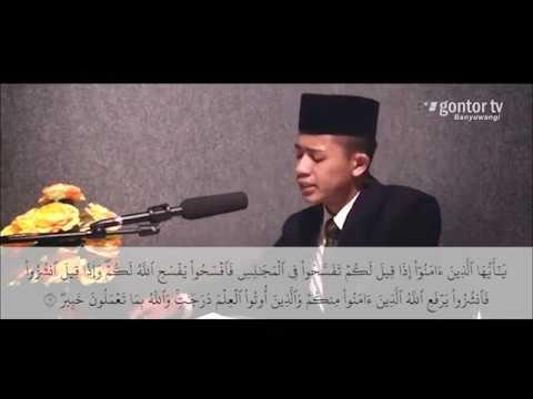 Al Mujadalah 11- 12  Recited by : Agung Satria