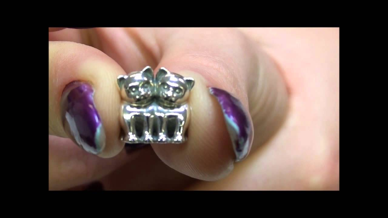 Pandora Purrfect Together Cat Charm At Argento Youtube