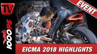 EICMA 2018 ! Motorrad Neuheiten 2019 auf der Motorradmesse Mailand.