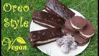 3 Oreo Style Desserts | VEGAN | Raw Cookies, Energy Balls and Cake