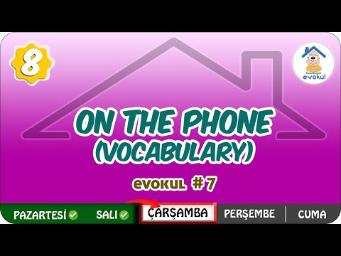On The Phone (Vocabulary) | 8.Sınıf #uzaktanegitim #evokul Kampı