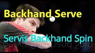 Backhand Service Table Tennis/ Belajar Sevis Backhand Tenis Meja
