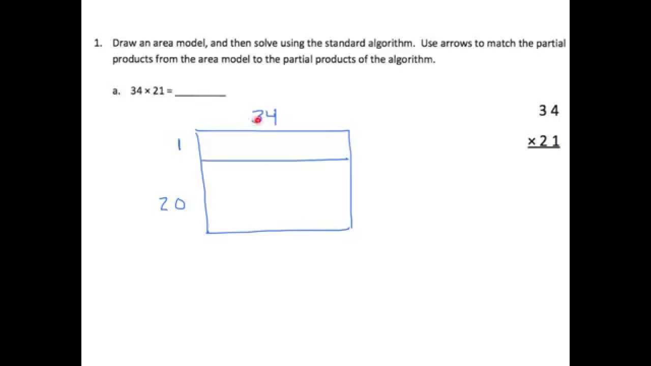 Multiply - Area Model \u0026 Standard Algorithm (examples [ 720 x 1280 Pixel ]