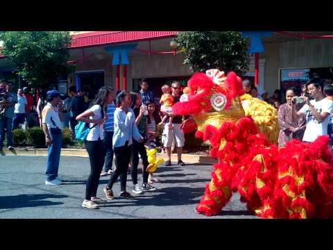 Lion Dance at Tet Trung Thu Festival 2014 in Eden Center
