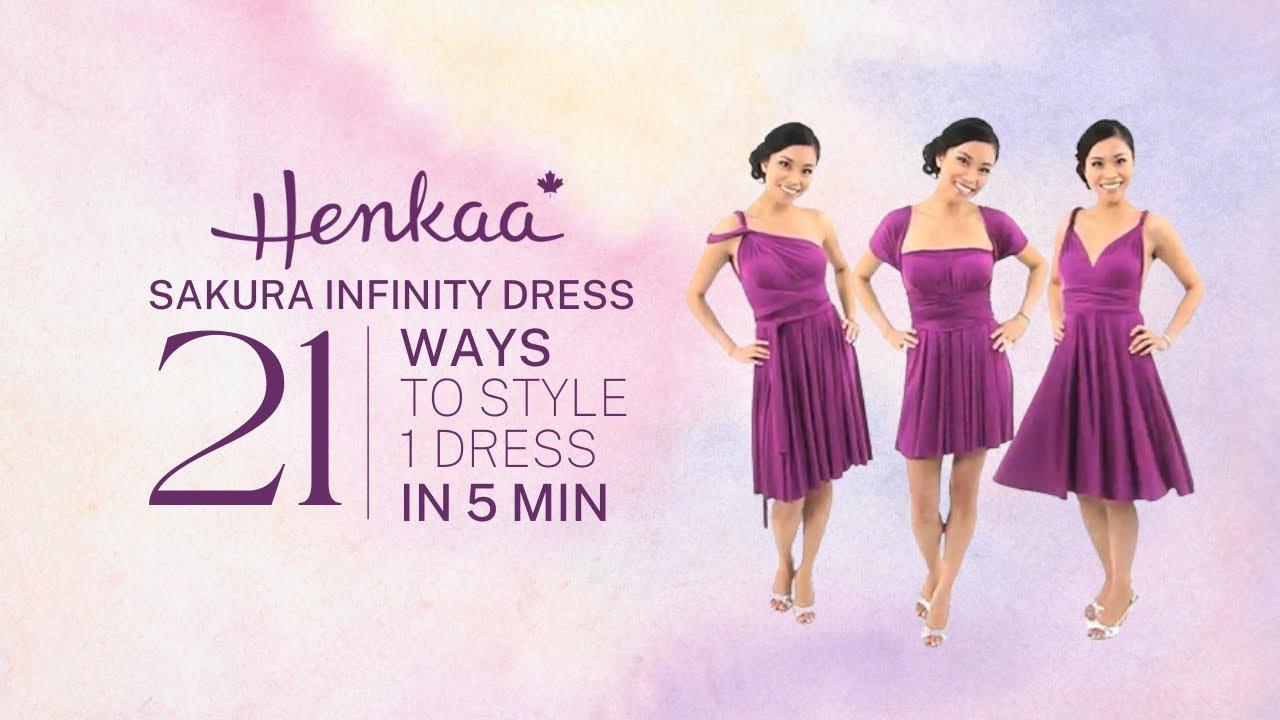sakura midi convertible infinity dress